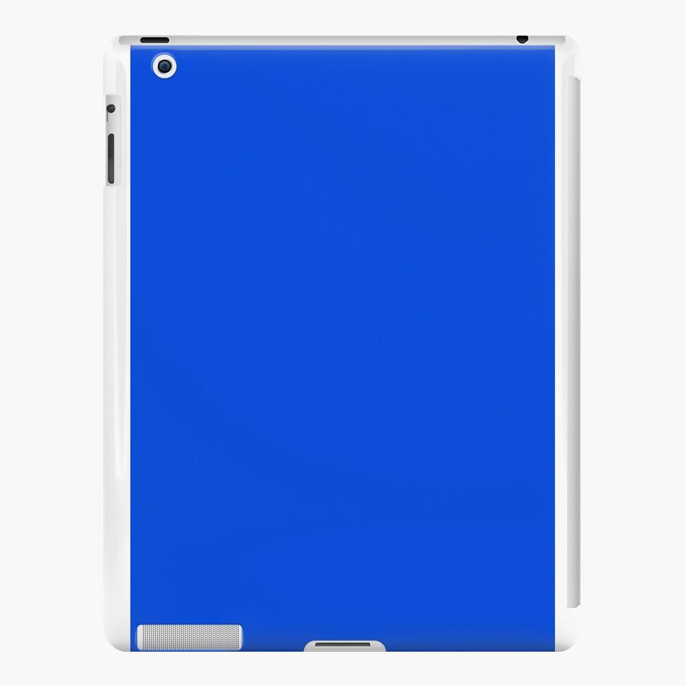 Minimalistische Volltonfarbe Neon leuchtend fluoreszierendes Blau iPad-Hüllen & Klebefolien