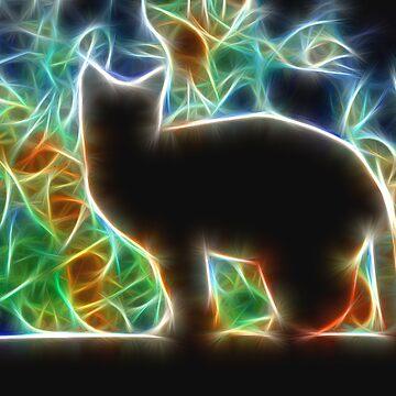 Cosmic Cat black by SarahTrangmar