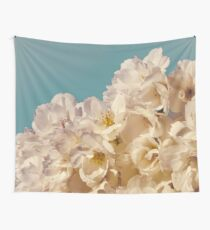West Coast Gardens: Vintage Aqua Sakura Wall Tapestry