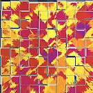 Abstract Squares - Red by Buckwhite