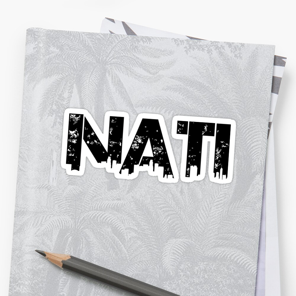 Nati, Cincinnati, Ohio Sticker