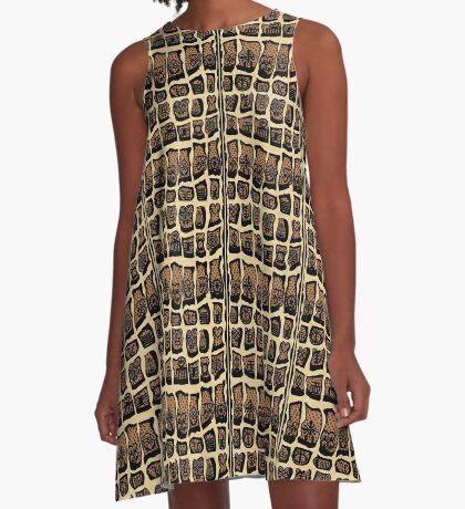 Caramel A-Line Dress
