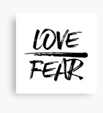 Love Over Fear - Inspirational Christian Quote Canvas Print
