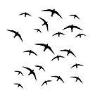 Black birds flight by Arletta Cwalina