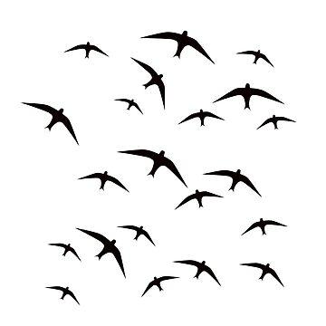 Black birds flight by ArlettaCwalina