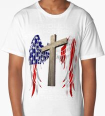 I PROUDLY STAND FOR THE FLAG KNEEL FOR THE CROSS AMERICAN VETERAN DAY T SHIRTS Long T-Shirt