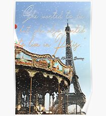 She wanted to die, but she also wanted to live in Paris. Poster