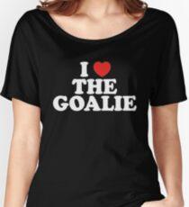 I Love The Goalie I Heart The Goalie Soccer Hockey Sport T-Shirt Women's Relaxed Fit T-Shirt