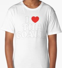 I Love The Goalie I Heart The Goalie Soccer Hockey Sport T-Shirt Long T-Shirt