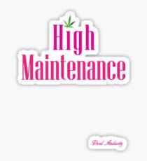 Pegatina Alto mantenimiento (PINK)