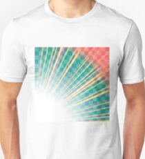 Transparent Colorful Rays. Colored Rays Pattern. Burst of Star T-Shirt