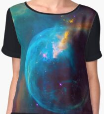 Blue Nebula Space Chiffon Top