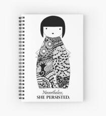 Kokeshi Doll Spiral Notebook
