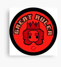 Great Ruler (Red) Canvas Print