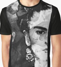 Black And White Frida Kahlo by Sharon Cummings Graphic T-Shirt