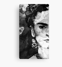 Black And White Frida Kahlo by Sharon Cummings Canvas Print