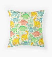 Dinosaur party Throw Pillow