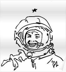 Astronaut - Cosmonaut Gagarin  Poster