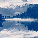 Lake Matheson Blueprint #2 by VanOostrum