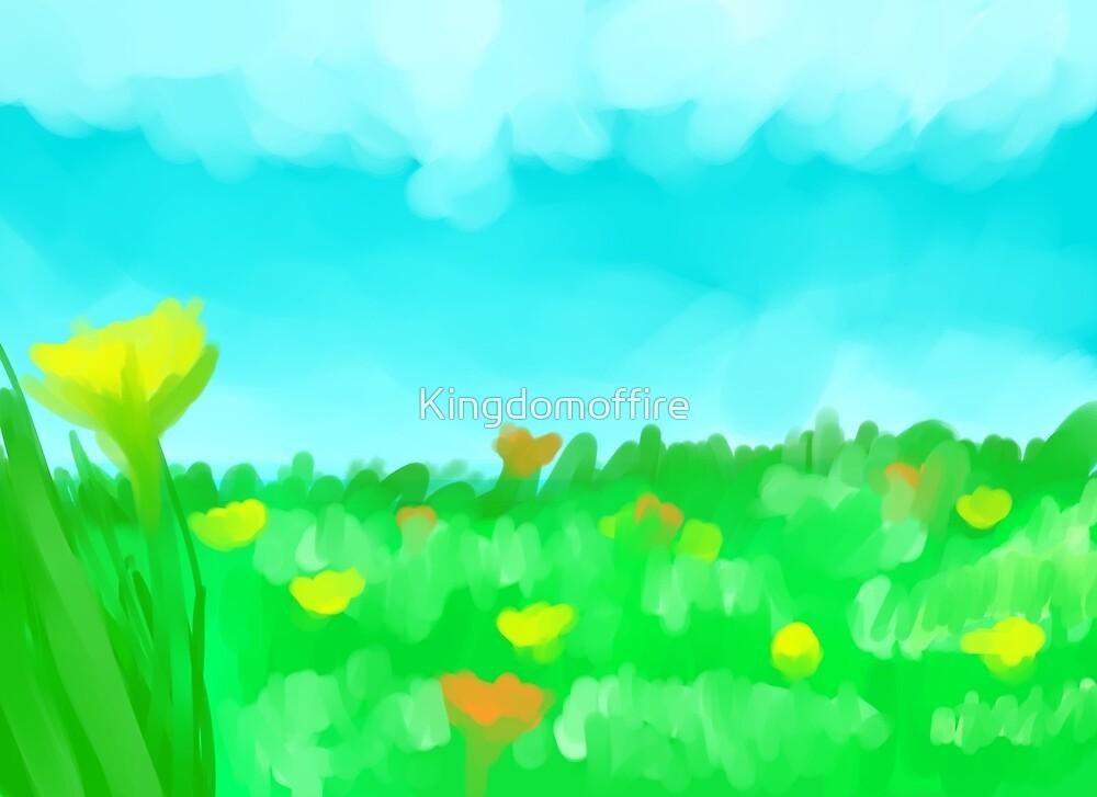 Flower Field by Kingdomoffire