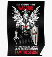 Knight's Templar Warrior Poster