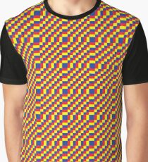 Primary colours pattern/checkered Graphic T-Shirt