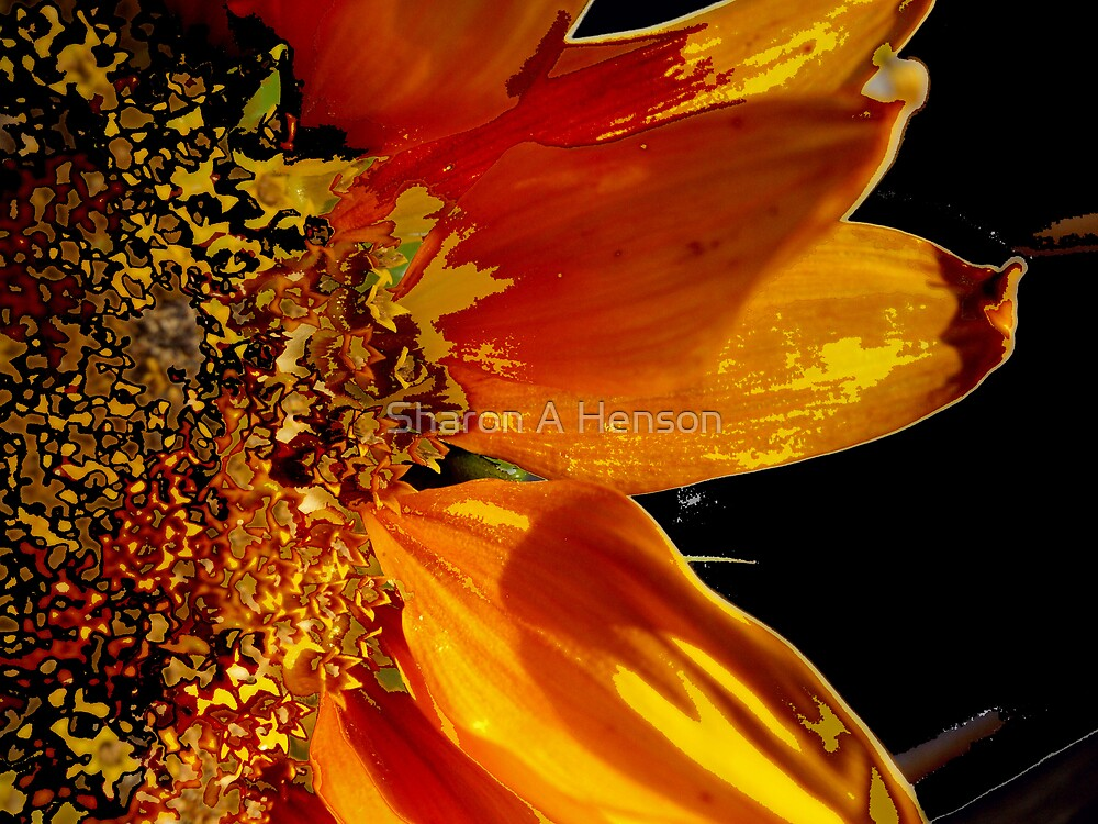 ABSTRACT SUNFLOWER V by Sharon A. Henson