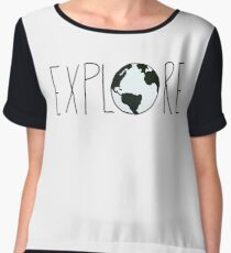 Explore the Globe Chiffon Top