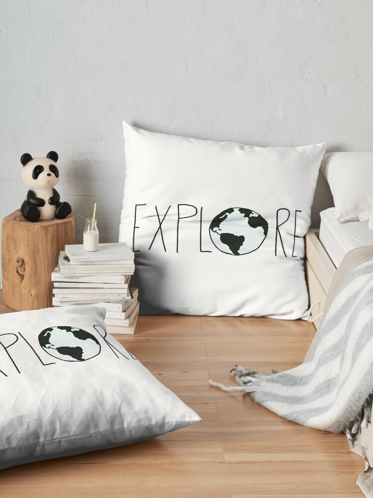 Alternate view of Explore the Globe Floor Pillow