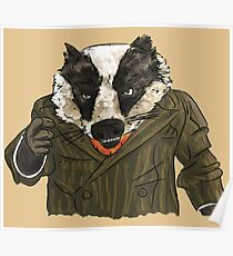 Badger (colour) Poster