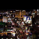 Las Vegas strip by night by digitaldawn