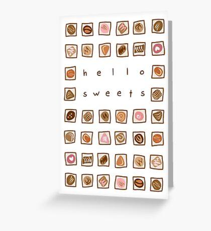 Sweet Chocolates Greeting Card