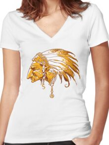 Chief Women's Fitted V-Neck T-Shirt