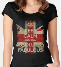 Keep Calm and Stay Absolutely Fabulous Women's Fitted Scoop T-Shirt