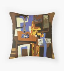Three Musicians by  Pablo Picasso Throw Pillow
