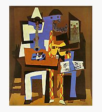 Three Musicians by  Pablo Picasso Photographic Print