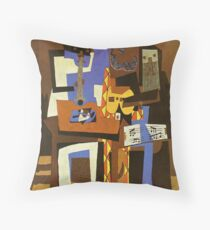 Three Musicians by  Pablo Picasso Floor Pillow