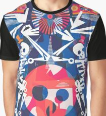 Rollerskating Skeleton Friends Boogie Graphic T-Shirt