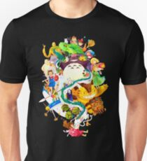 Studio Ghibli Watercolor Collage T-Shirt