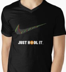 Just Hodl It - Bitcoin Crypto Currency Men's V-Neck T-Shirt