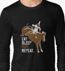 Eat Sleep Ride Repeat T shirt Long Sleeve T-Shirt