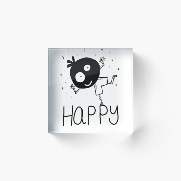 Happy - inner voice collection Acrylic Block