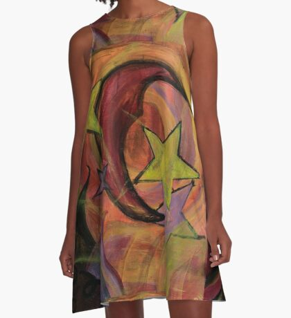 Night Sky in Autumn A-Line Dress