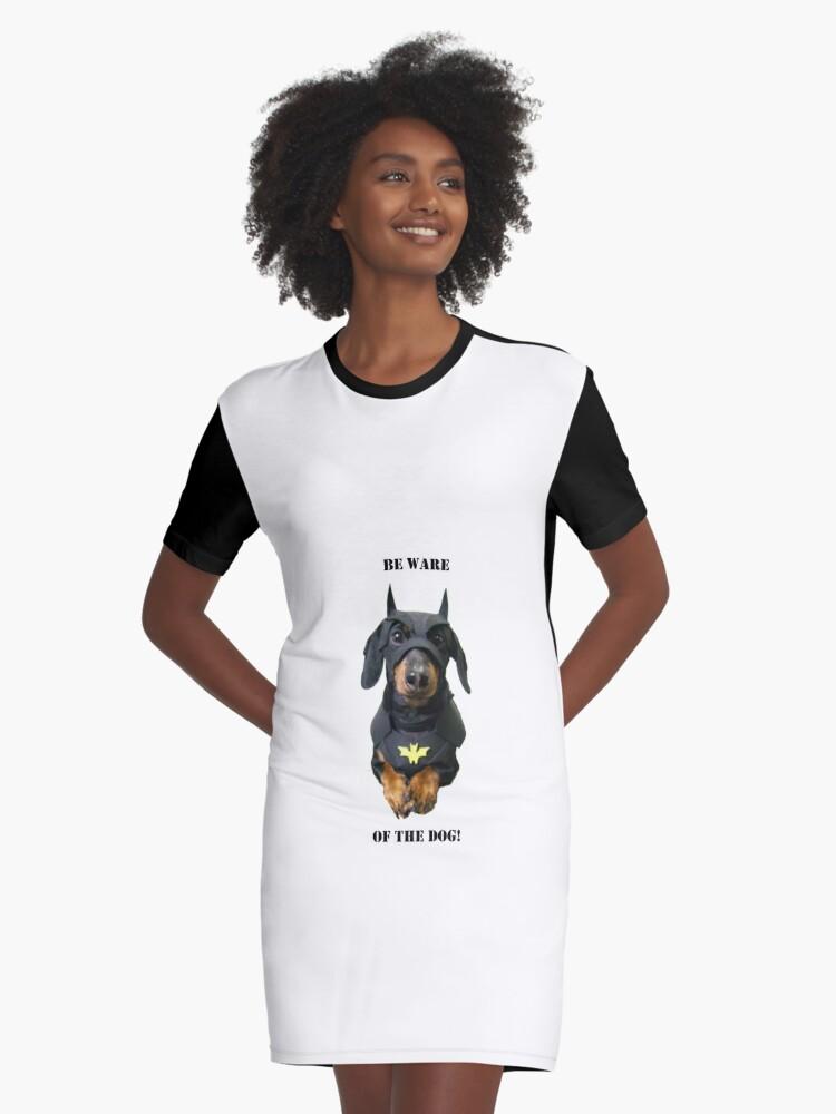 Vestido Camiseta Cuidado Con El Perro De Livedesign