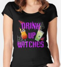 Drink Up Witches Women's Fitted Scoop T-Shirt