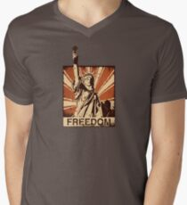 BARISTA FREEDOM! Men's V-Neck T-Shirt