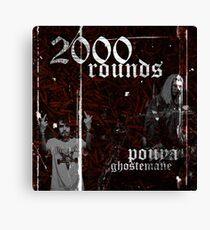 Ghostemane X Pouya 2000 Rounds Canvas Print