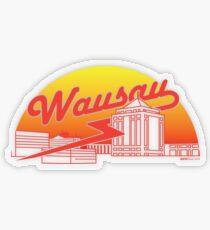 Wausau Skyline (Red) Transparent Sticker