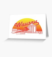 Wausau Skyline (Red) Greeting Card