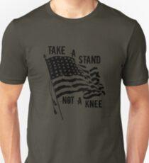 I Don't Kneel T-Shirt, Take A Stand Not A Knee Shirt, Patriotic Football Tshirt,  Veteran Tee T-Shirt